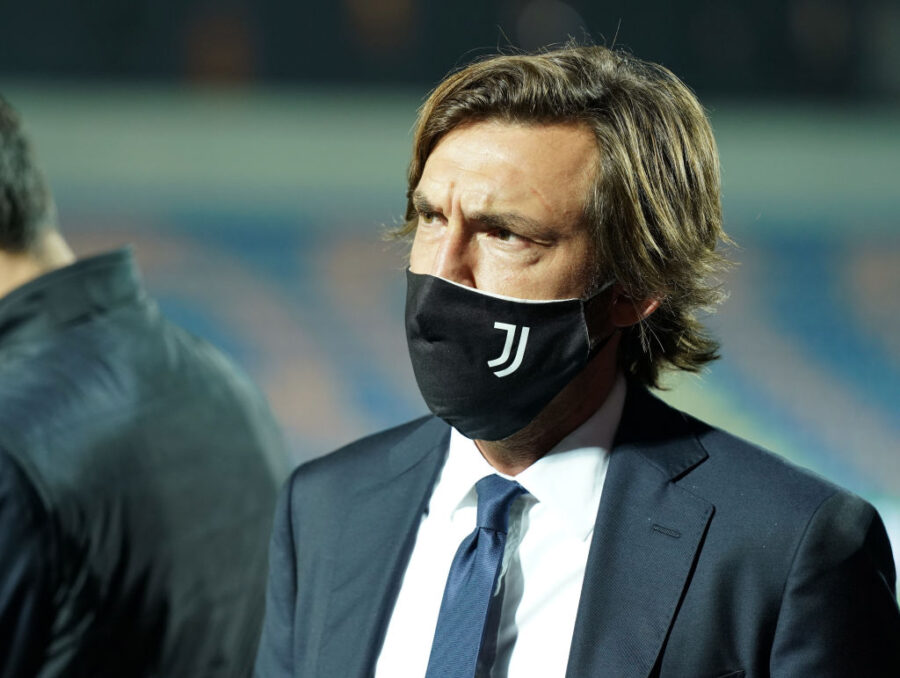 CROTONE, ITALY - OCTOBER 17: Head coach of Juventus Andrea Pirlo looks on before the Serie A match between FC Crotone and Juventus at Stadio Comunale Ezio Scida on October 17, 2020 in Crotone, Italy. (Photo by Getty Images/Getty Images)