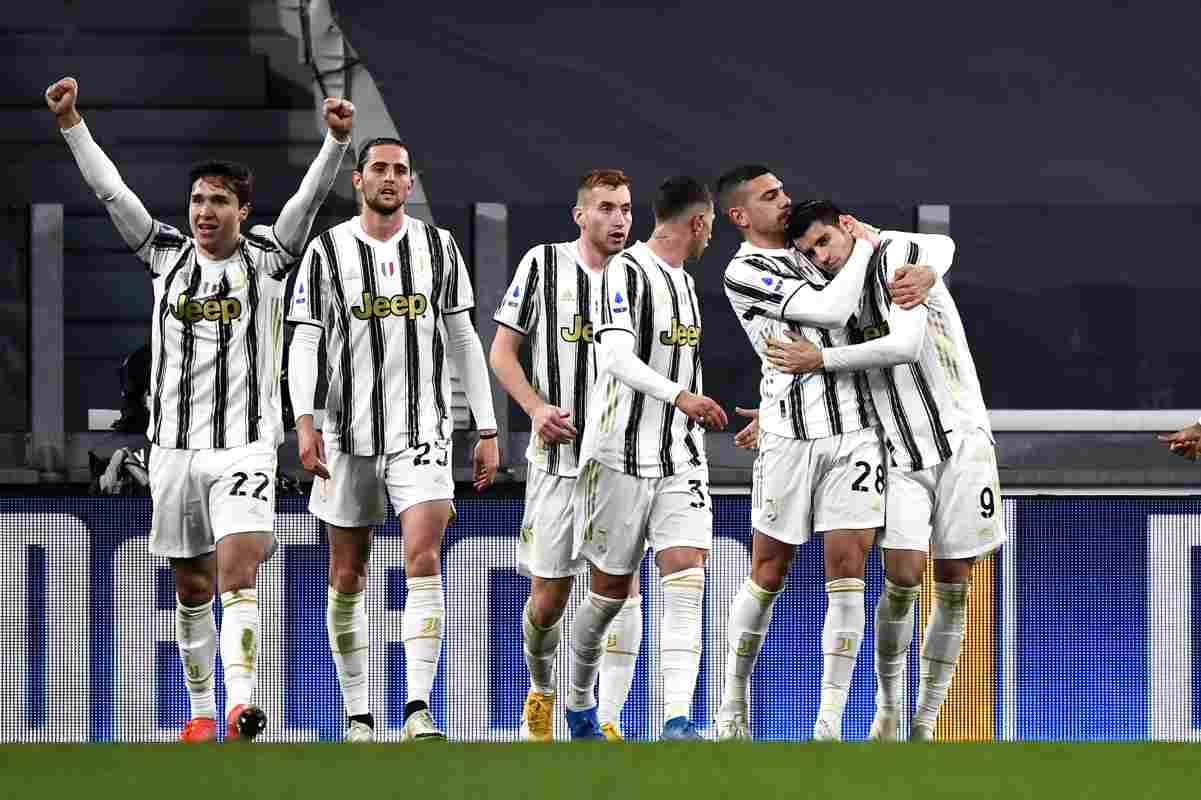 Torino 06/03/2021 - campionato di calcio serie A / Juventus-Lazio / foto Image Sport nella foto: esultanza gol Alvaro Morata