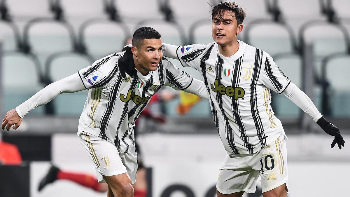 Mg Torino 03/01/2021 - campionato di calcio serie A / Juventus-Udinese / foto Matteo Gribaudi/Image Sport nella foto: Cristiano Ronaldo-Paulo Dybala